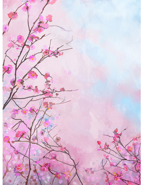 5x7ft spirng light pink flowers branch plum buds custom photo studio 5x7ft spirng light pink flowers branch plum buds custom photo studio backdrops backgrounds vinyl 220cm x mightylinksfo