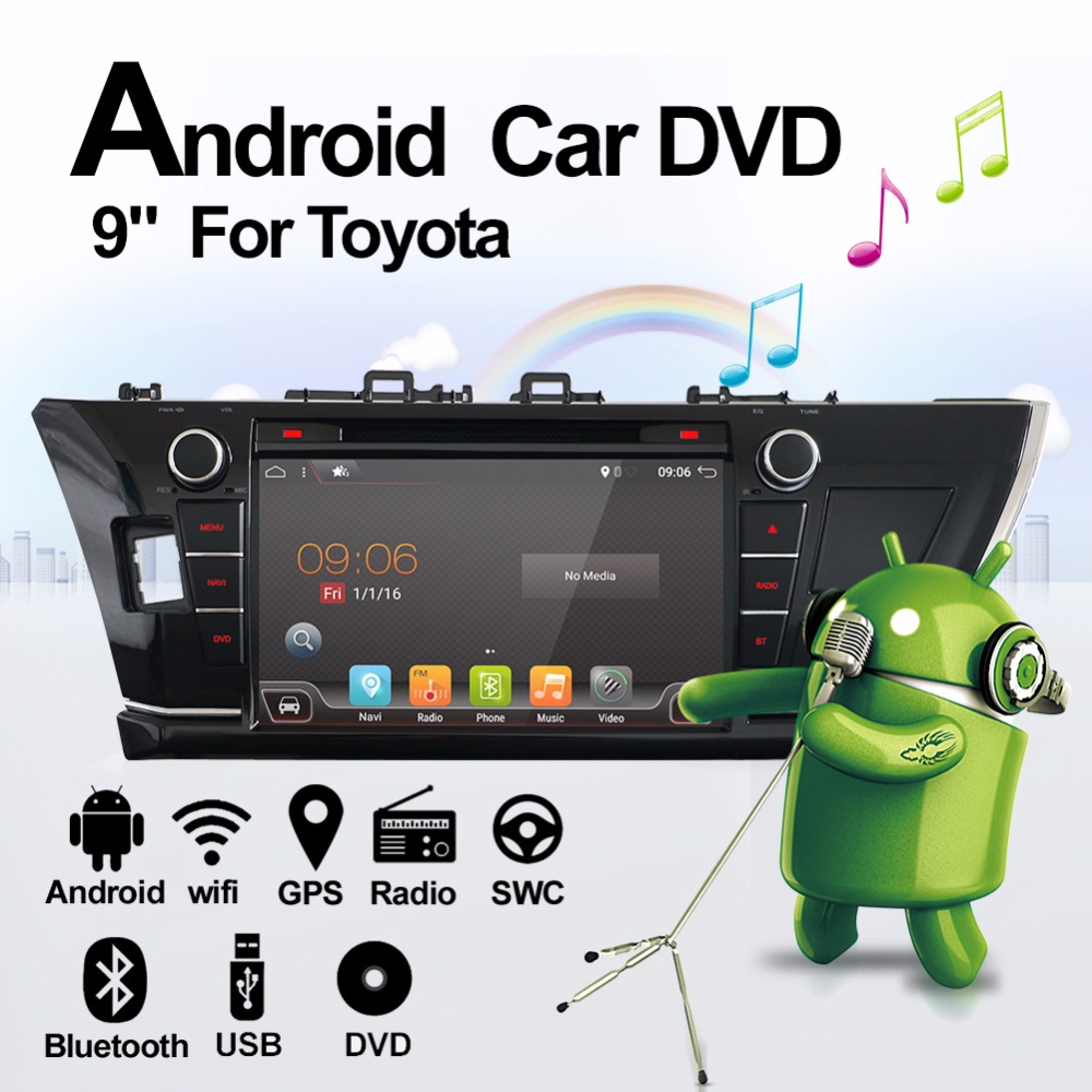 Bosion For Toyota Corolla Car GPS Radio Android 7.1.1 Quad Core 32GB ROM 4G Wifi AUX SWC 1024*600pixel HD Touchscreen Free MAP