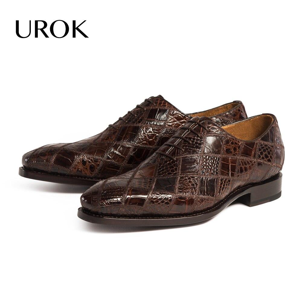 Custom Made Men Crocodile Oxford Dress Shoes Goodyear Welt ...