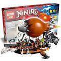 318 шт. Бела 10448 Ниндзя Zeppelin Raid Строительство Модель Комплекты Дублон Детские Игрушки, Совместимые С Lego