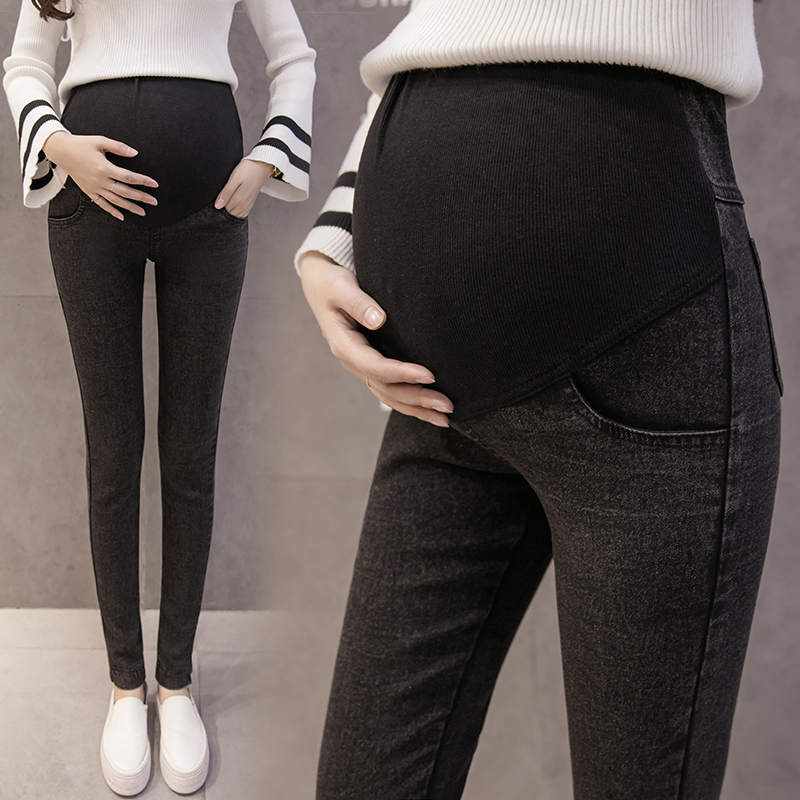 Maternity Jeans For Pregnant Women Pregnancy Winter Warm Jeans Pants Maternity Clothes For Pregnant Women Nursing Trousers winter velour maternity jeans for pregnant women belly jeans pregnancy elastic waist pencil trousers y880