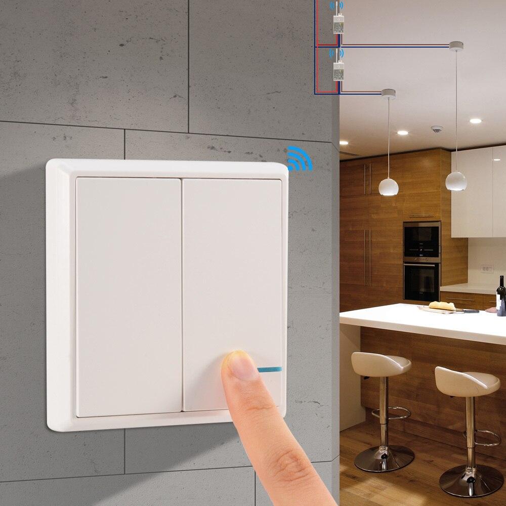 Sans fil Interrupteur Étanche À Distance Lumière Commutateurs-Aucun Câblage Rapide Créer Télécommande Plafond Lampes LED Ampoules