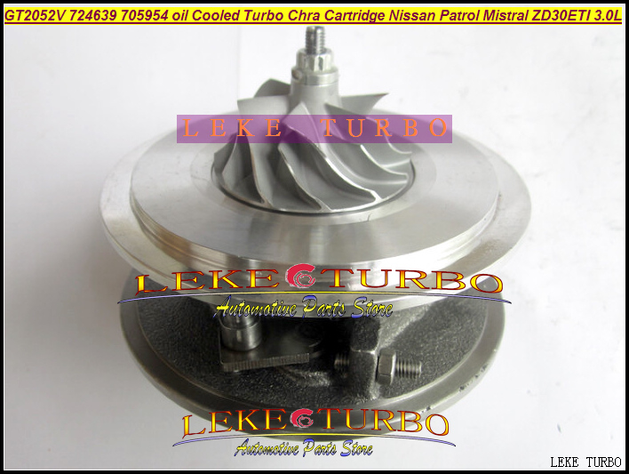 Free Ship Turbo Cartridge CHRA Core GT2052V 724639 724639-5006S Oil Cooled Turbocharger For NISSAN Patrol Terrano 2 ZD30DTI 3.0L