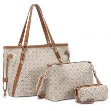 KUNDUI CALIENTE Bolso de Las Mujeres de tres piezas conjunto de Cuero de LA PU bolsas de mensajero de las mujeres bolsa de viaje/bolsos Crossbody Del Hombro de las mujeres bolsa