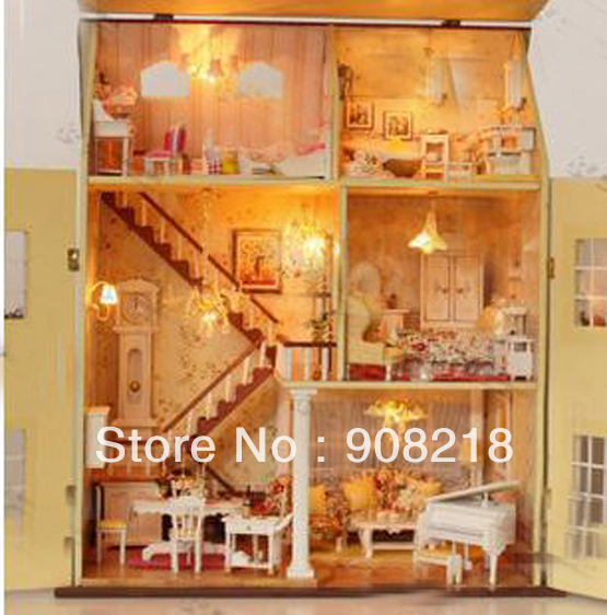 Wooden Miniature Furniture Bedroom Furniture Sets Lovely Wooden Doll House Furniture Free