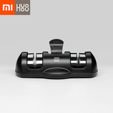 Xiaomi Mijia Huohou Knife Sharpener 2 Stages Double Wheel Sharpener Whetstone Sharpener Tool for Kitchen Knife 2(China)