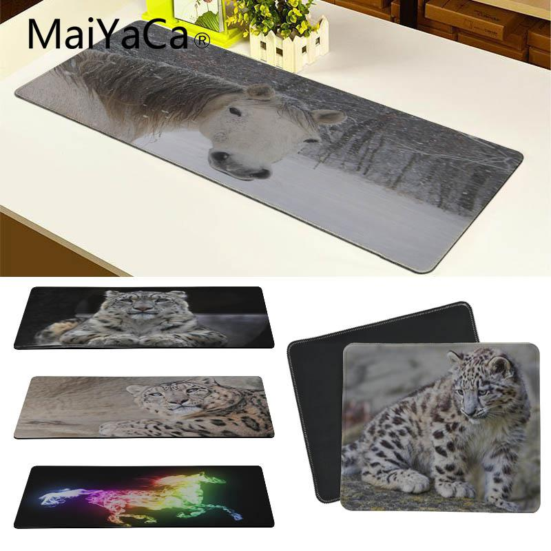 MaiYaCa High Quality Horse Snow Leopard DIY Design Pattern Game mousepad Size for 18*22 20*25 25*29 30*90 and 40*90cm