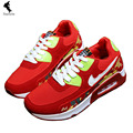 Air Cushion Casual Height increasing Rubber Woman Shoes Canvas Strap Solid Sneaker Appliques Girl Leisure Red Online Shoe Brand