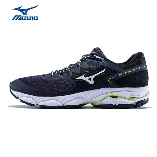 424290878 Homens MIZUNO WAVE ULTIMA 10 Almofada Tênis de corrida Esportes Leves  Sapatos Respirável Sneakers Azul Marinho