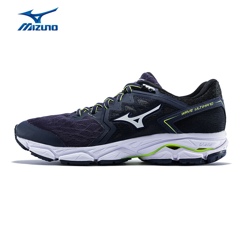 5646145f799 MIZUNO Men WAVE ULTIMA 10 Running Shoes Cushion LIght Weight Sports Shoes  Breathable Sneakers Navy Blue J1GC180907 XYP745-in Running Shoes from Sports  ...