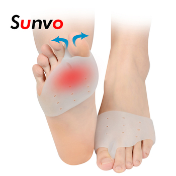 Sunvo 1 Pair Silicone Hallux Valgus Orthotic Insoles Toe Separator Toe Correction Cushion Forefoot Heel Apply to Bunonia Inserts