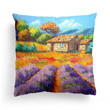 BZ117 Modern Oil Painting Style Pillowcase Pillow Cover Machine Washable Home Textile 45cm*45cm/18x18 Inch