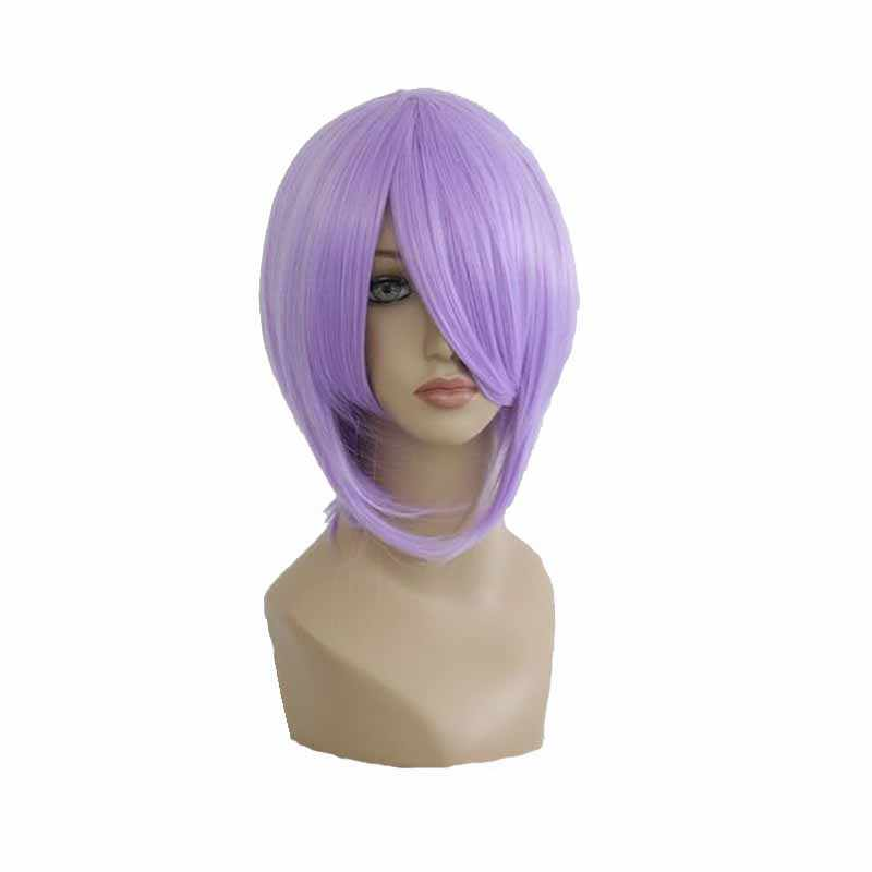 MCOSER 35cm Short Synthetic Straight Light Purple Cosplay Costume Wig 100% High Temperature Fiber Hair WIG-013F