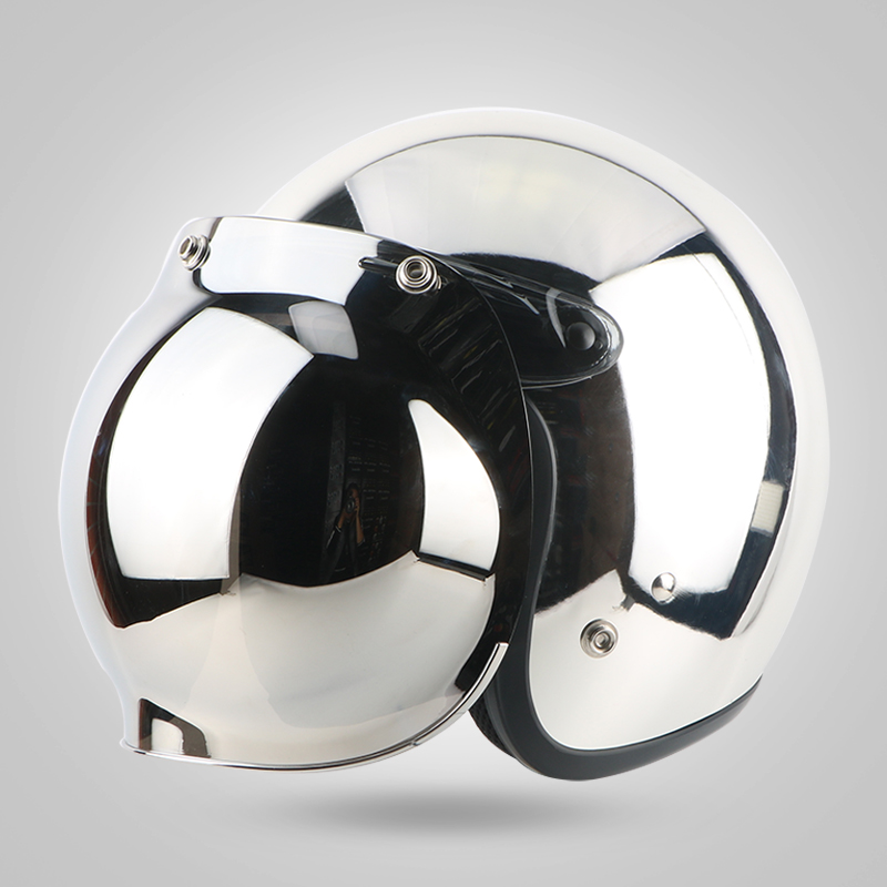 New brand moto mirror sliver helmet chrome casco capacete motorcycle helmet 3/4 open face vintage motocross helmets  S ~ XXLNew brand moto mirror sliver helmet chrome casco capacete motorcycle helmet 3/4 open face vintage motocross helmets  S ~ XXL