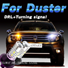 Car Styling For Renault Duster LED DRL Daytime Running Lights With Turning Signal External Day Light
