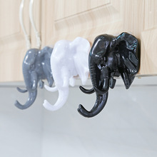 YOOAP Stereo Elephant Head Decoration Hanger Bathroom Study Kitchen Nose Wall Cap Hook