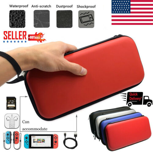 Portable For Nintendo Switch Game Console Storage Bag Hard Shell Carrying Display Case EVA Black Plain Bag Cover
