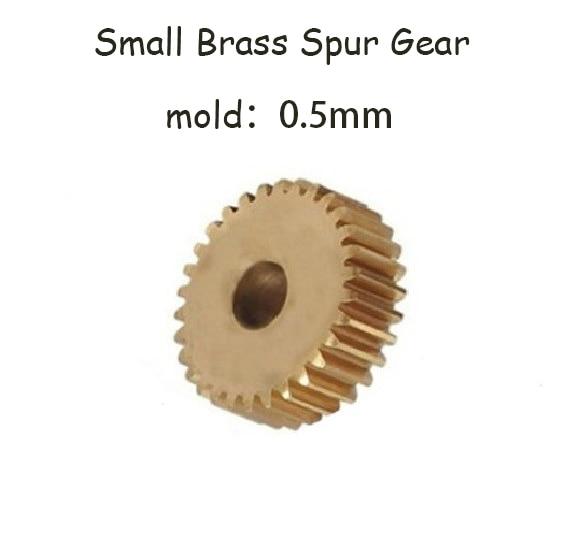 2pcs/lot 0.5M 50 Teeth Small Brass Spur Gear DIY motor Gear CNC lathe machining parts diy 3mm 45 steel gear wheel motor 2 pcs