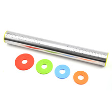 New stainless steel rolling pin adjustable thickness flour stick with scale Household kitchen baking tool