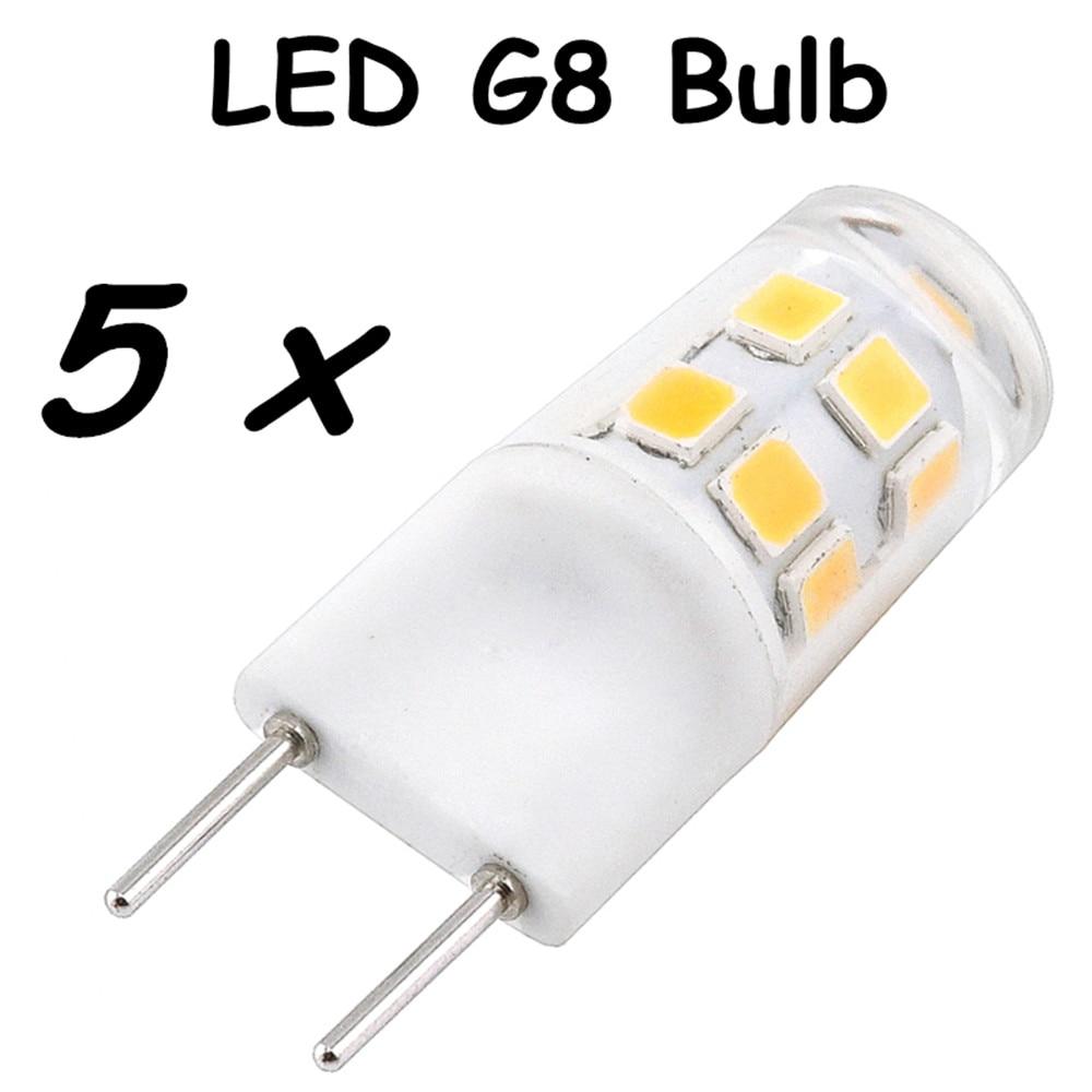 G8 Led Light Bulb 2w Bi Pin G8 Base Led Crystal Lamp Replace 20w Halogen G8 For Chandelier Crystal Ceiling Fan Kitchen Lighting