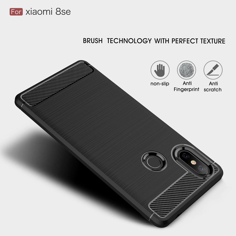 HATOLY Cover Xiaomi Mi 8 SE Case Phone Bag Soft Silicone Rubber Phone Cover Case for Xiaomi Mi 8 SE Case for Xiaomi Mi8 SE in Fitted Cases from Cellphones