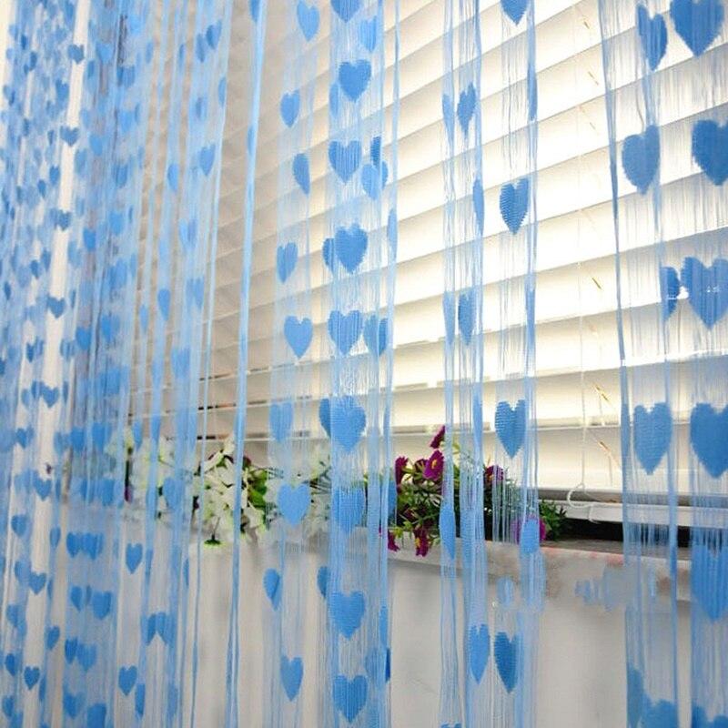 Colorful Love Line Curtain W100xH200cm Fashion Valance