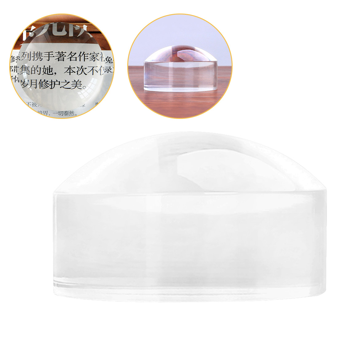50/60mm loupe Magnifier Crystal Acrylic magnifying glass Dome Paperweight Map Magnifying Tool for Reading Aid