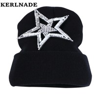 High Quality Gorro Luxury Rhinestone Crown Women Beanies Hats New Popular Novelty Woman Winter Hat Wholesale