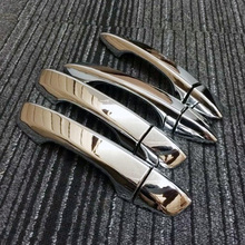 Free Shipping High Quality ABS Chrome Door Handles Cover Door Handles Protect Door Handle Bowl Cover For Volkswagen VW Lamando