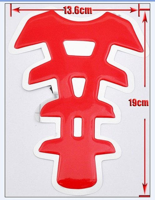 Wholesales Fit for YAHAMA Gas Protect Motorcycle Red Tank Pad Sticker NEW free shipping TP-148