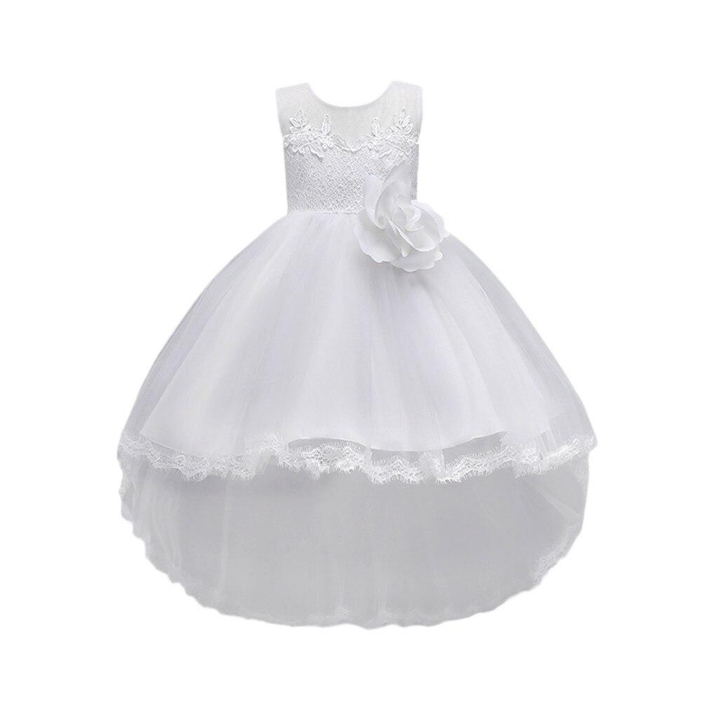 Floral Baby Girl Princess Bridesmaid Pageant Gown Birthday Party Wedding Dress i bambini dreess kochanie dzieci dreess #5