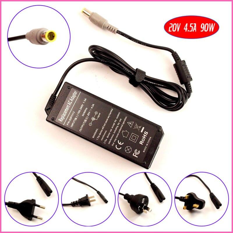 20 В 4.5a 90 Вт ноутбук адаптер переменного тока Зарядное устройство для IBM/Lenovo/Thinkpad 40y7700 42t4428 42t4427 42t4424 42t4431 42t4432 42t4435