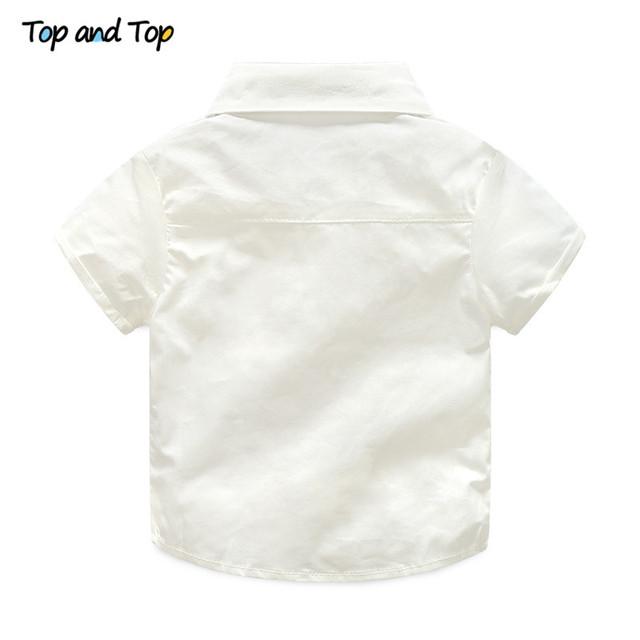 Newborn suspenders short sleet T-shirt (2pcs)