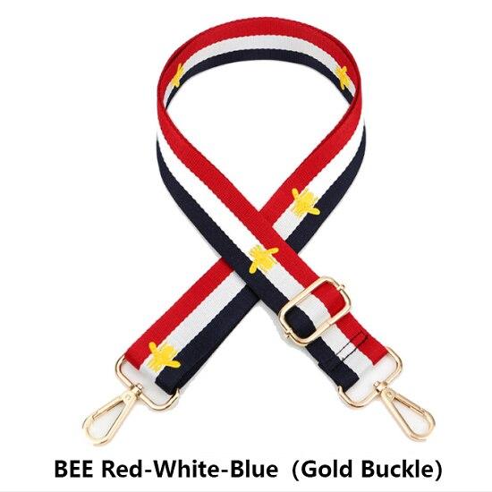 Nylon Bag Straps for Shoulder Bag Rainbow Belt Bag Straps Shoulder Messenger Bags Adjustable Wide Strap Parts for Accessories