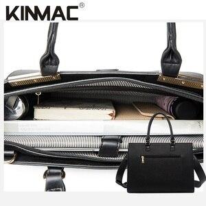 """Image 5 - 2020 موضة العلامة التجارية Kinmac سيدة بولي Leather حقيبة يد جلدية رسول حقيبة كمبيوتر محمول حقيبة 13 بوصة ، الحال بالنسبة لماك بوك اير برو 13.3 """"، دروبشيب 008"""