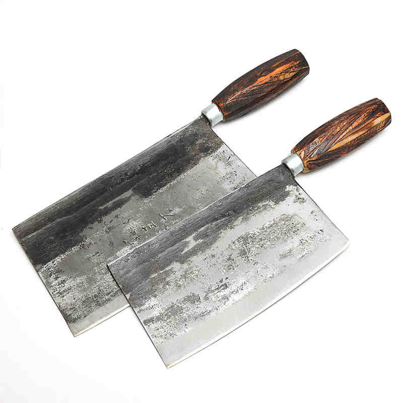 Chu Family Handmande Forged Mulberry Knife Shell Steel Chinese Style Chef Knife Kitchen Cut Meat Vegetable