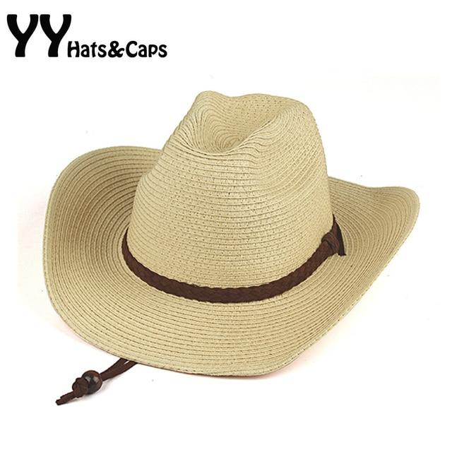 2015 Summer Style Cowboy Hats For Men Western Cap Women Straw Sunhats  Chapeau Homme Cowboy YY0749 fc7f121e8e50