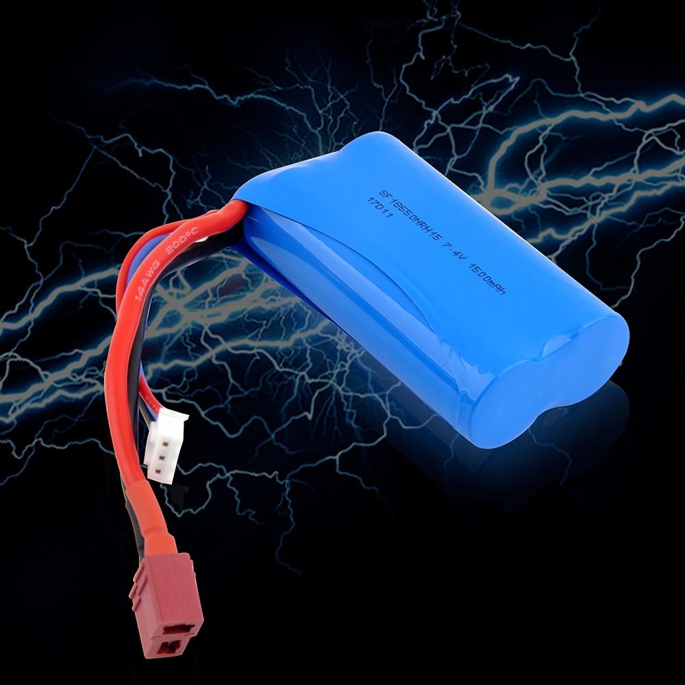 Batteria Rc Batteria Lipo 2 s 7.4 v 1500 mah 20C Max 30C per Wltoys 12428 12423 1:12 RC Auto pezzi di ricambio