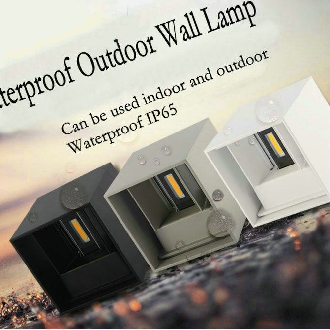 Modern Brief Cube Adjustable Surface Mounted 7W LED Wall Lamp Outdoor Waterproof IP65 Aluminum Wall Lights Garden Light SconceModern Brief Cube Adjustable Surface Mounted 7W LED Wall Lamp Outdoor Waterproof IP65 Aluminum Wall Lights Garden Light Sconce