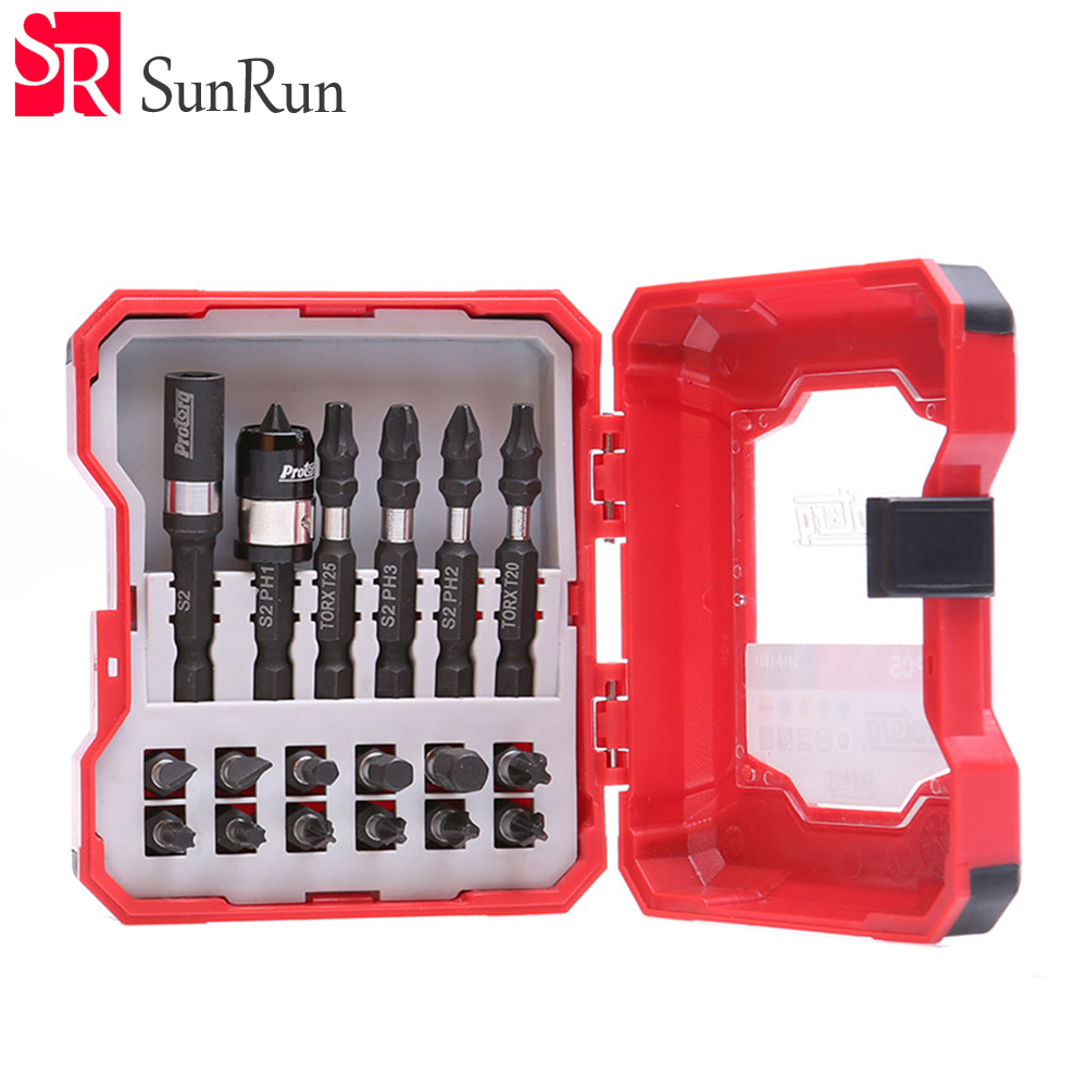 19 pieces/ set electric screwdriver head ,special batch head , rechargeable drill screwdriver head screwdriver bit free shipping brand proskit upt 32007d frequency modulated electric screwdriver 2 electric screwdriver bit 900 1300rpm tools