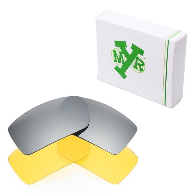 2 Pairs MRY Замену Линзы для Oakley Gascan Солнцезащитные Очки Серебро Титан & HD Желтый