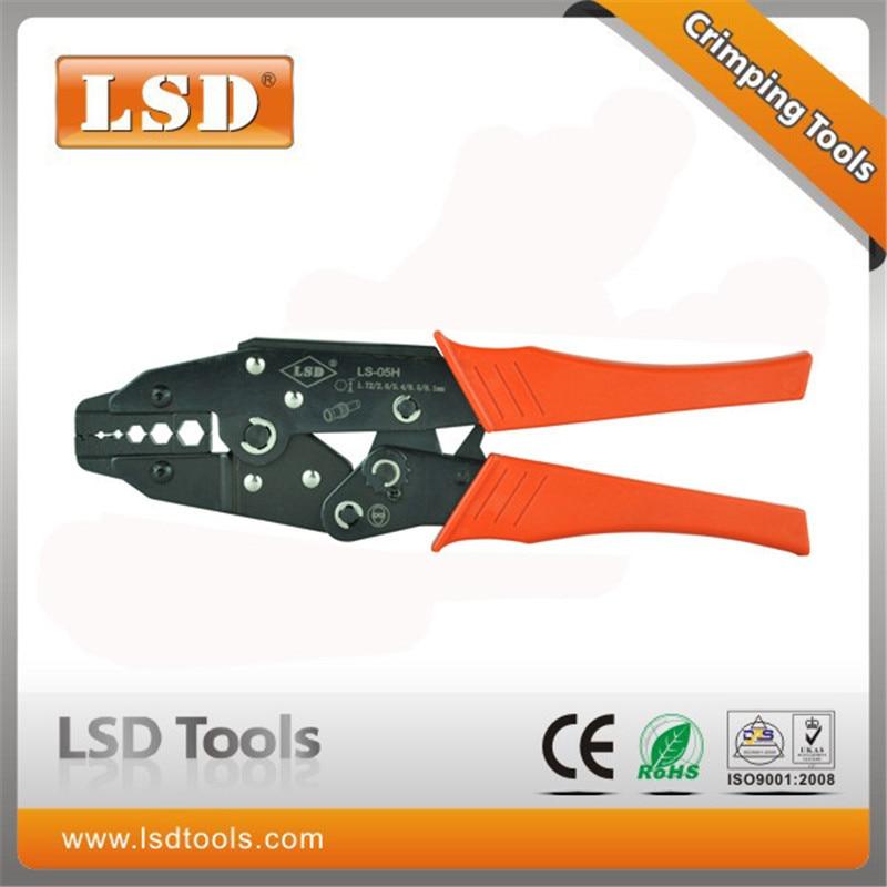LS-05H coaxial crimping pliers  RG55 RG58 RG59 coaxial crimper SMA/BNC connectors crimp tool carbon steel ratchet crimping tool цены онлайн