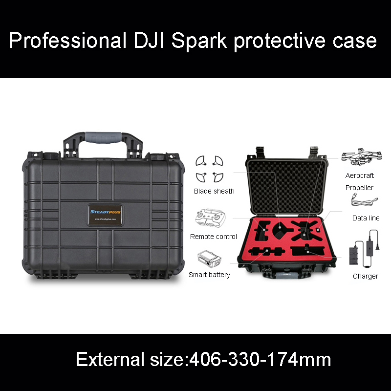 Professional Customization DJI Spark All-around Suit Safety Box Suitcase Protective Box Protection Case Watertight Caisson