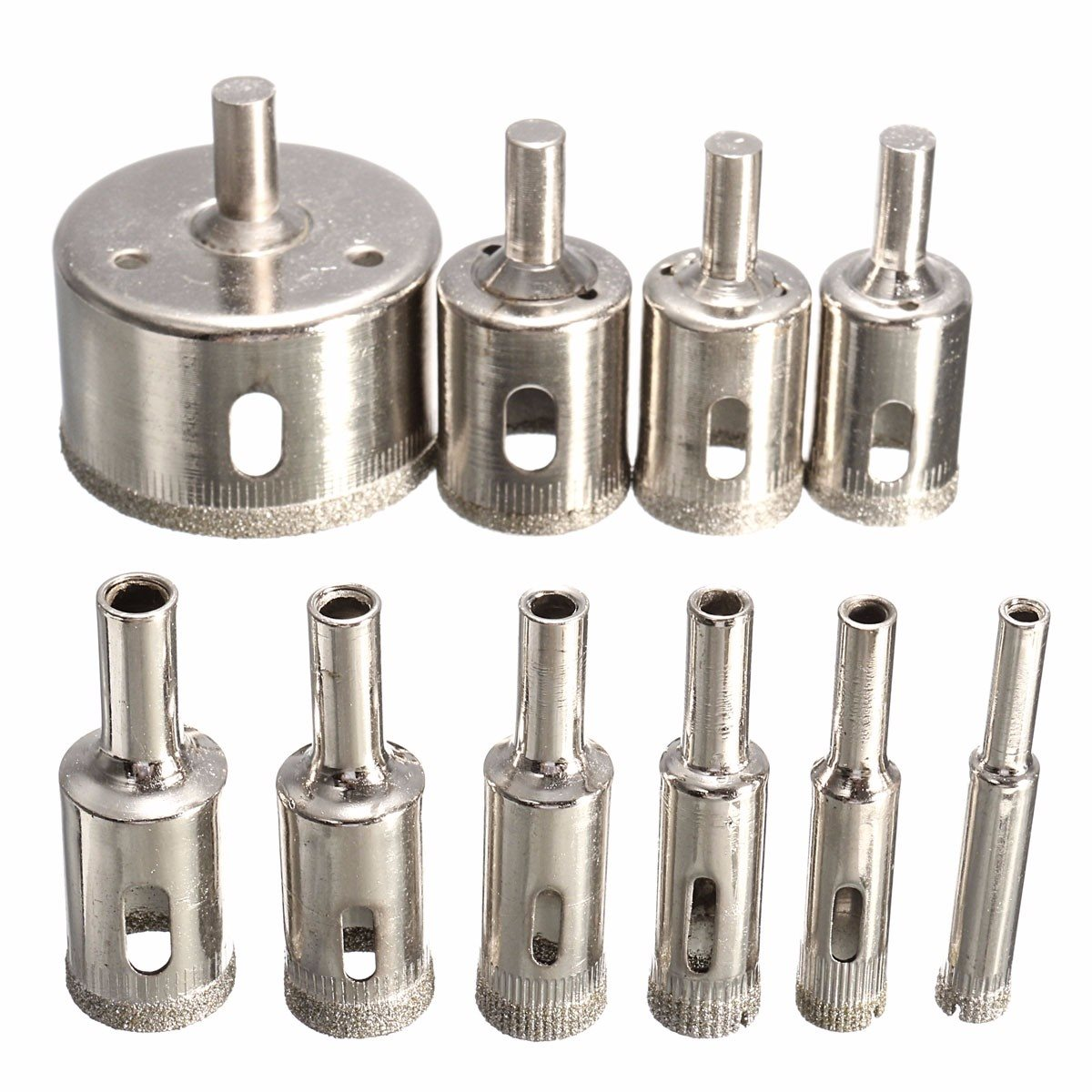 Hot Sale 10PCS/set 8-50mm Diamond Coated Core Hole Saw Drill Bits Tool Cutter For Tiles Marble Glass Granite Drilling Best Price 14pcs set diamond coated hole saw core drill bit tile marble glass ceramic set 3 70mm durable in use metal drilling best price