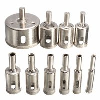 New Arrival 10PCS Set 8 50mm Diamond Coated Core Hole Saw Drill Bits Tool Cutter For