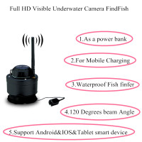 Smart Phone Underwater Camera Fish finder Wifi wireless findfish Echo Sounder Sonar fish finder for Ice Ocean Fishing Finder Lur