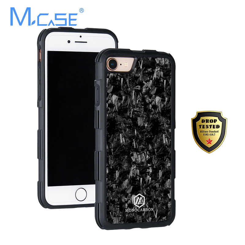 07b956f0b44 ... Forged Case for iPhone 7 8 7Plus 8Plus with Full Protection Cover  Forged Carbon Fiber Case ...