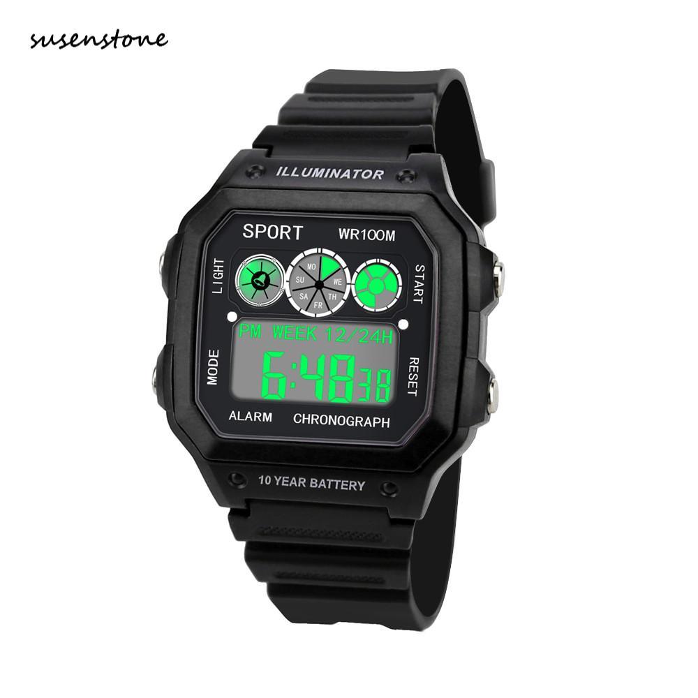 Einfache Sport Digitale Uhr Wasserdichte 2018 Luxus Männer Uhr Analog Digital Military Armee Led Armbanduhr Uhren Hombre/pt Digitale Uhren Uhren