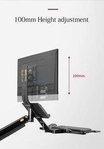 Image 3 - NB soporte de pared de aluminio MC32 para sentarse puesto de trabajo, soporte para Monitor de 22 32 pulgadas, brazo puntal de Gas con bandeja para teclado, soporte LCD giratorio