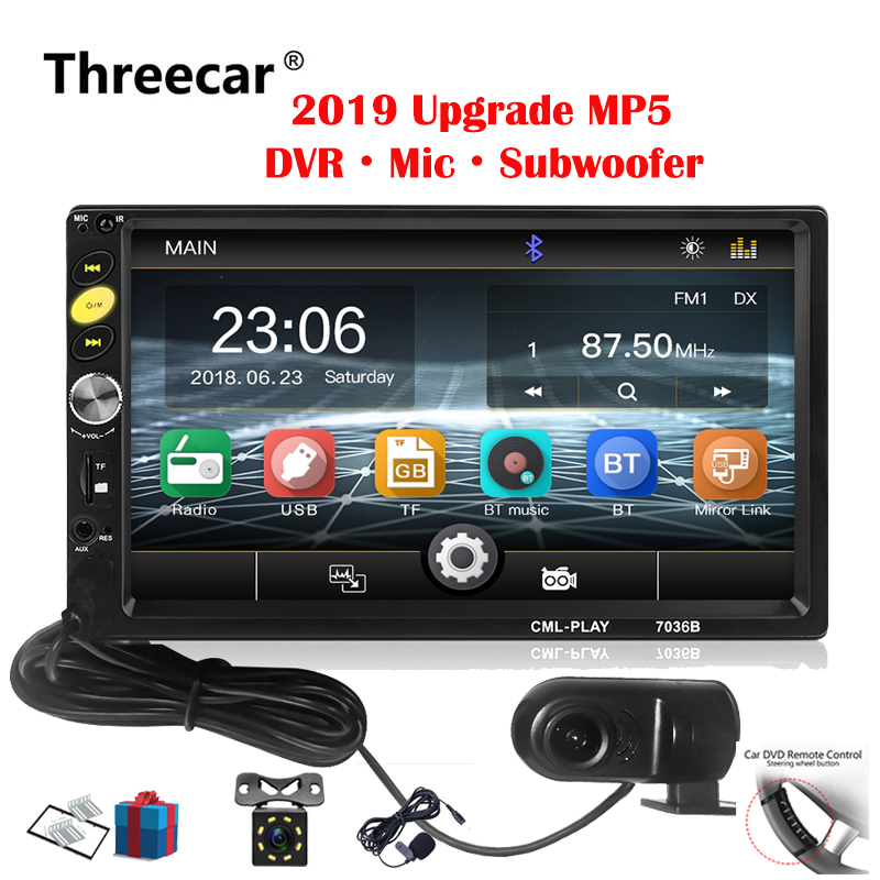 2din Car Radio 7 inch Touch mirrorlink Android  Player subwoofer DVR Player Autoradio Bluetooth Rear View Camera tape recorder2din Car Radio 7 inch Touch mirrorlink Android  Player subwoofer DVR Player Autoradio Bluetooth Rear View Camera tape recorder